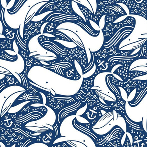 Whales No 2. - Navy