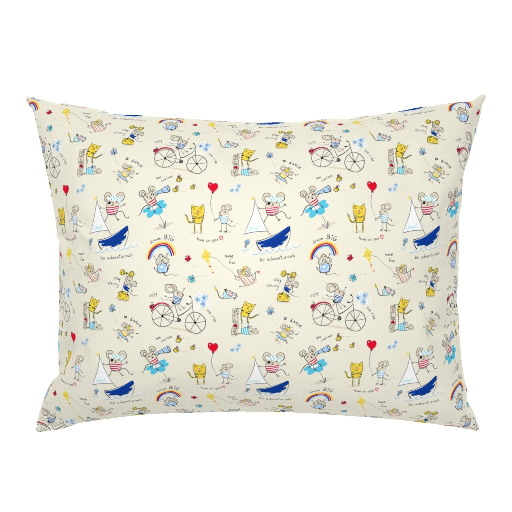 Campine Pillow Sham featuring Mice Messages by designed_by_debby