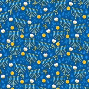 Mazel Tov Blue Letters on Black Background