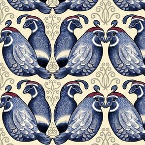 Quail bird with decorative elements