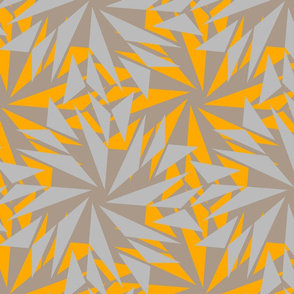 Geometric Floral 2 - Yellow Beige