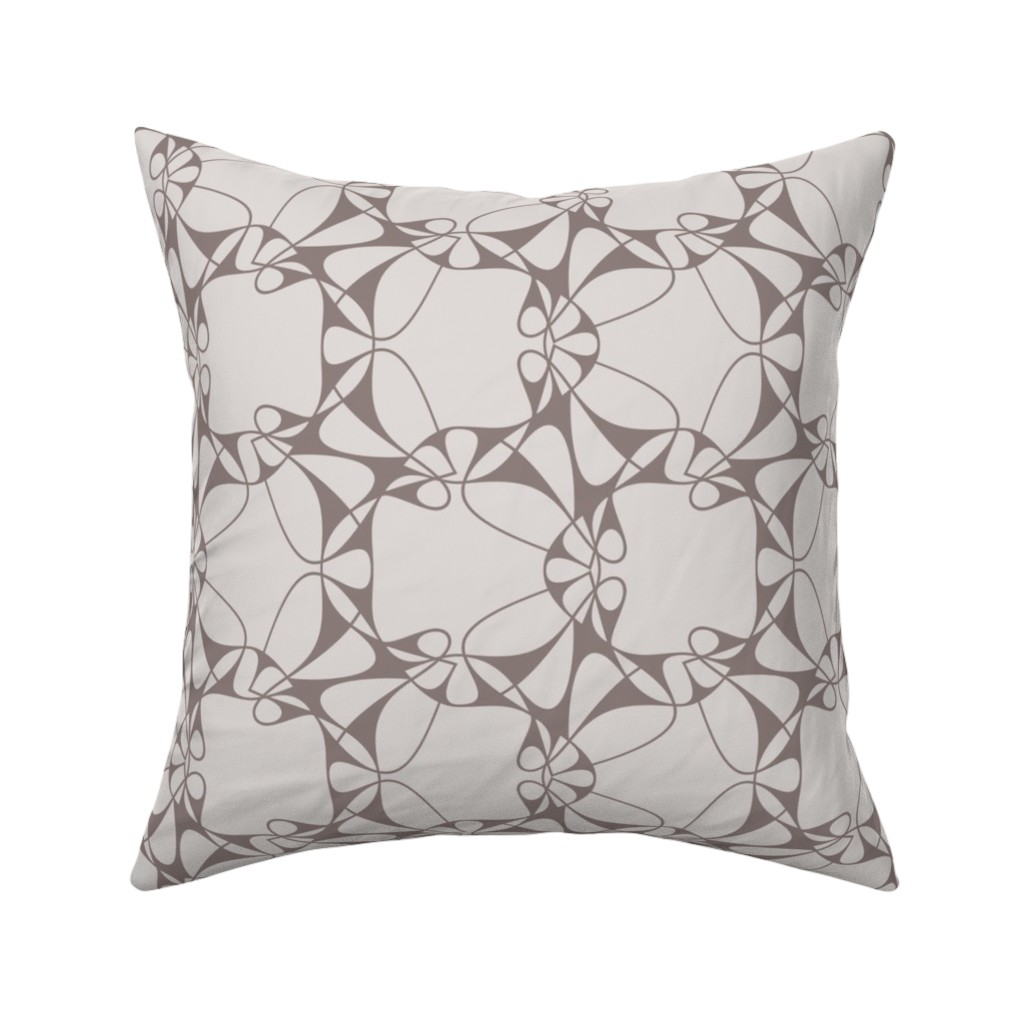 Catalan Throw Pillow featuring Leaf Lattice Lace - Rose by zuzana_licko