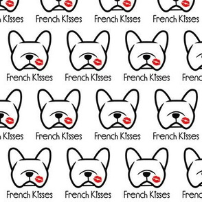 French Bulldog kisses - pucker up,  Frenchie dog love!