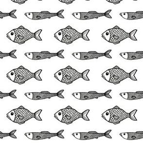 Fish - Black/white