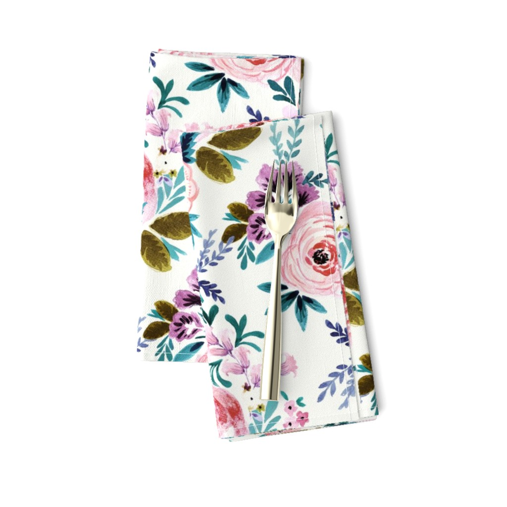 Amarela Dinner Napkins featuring Victoria Floral by crystal_walen