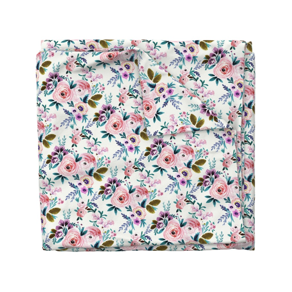 Wyandotte Duvet Cover featuring Victoria Floral by crystal_walen