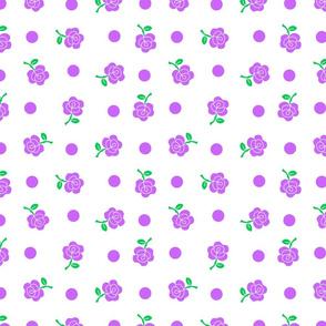 Purple rose repeat
