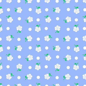 White rose blue repeat