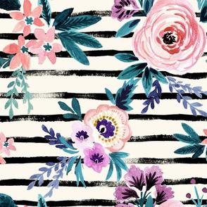 Victoria Floral Stripe