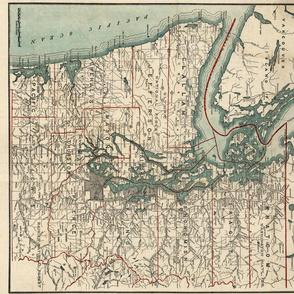 Washington State Vintage map