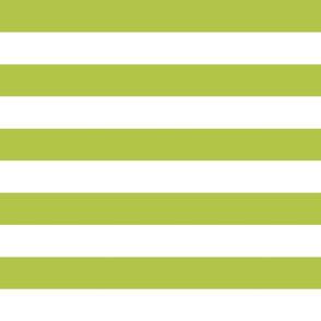 wide stripes pea green