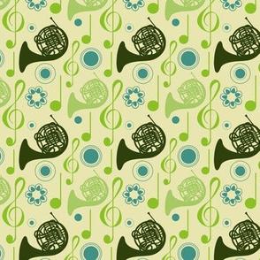 Horn Notes - green