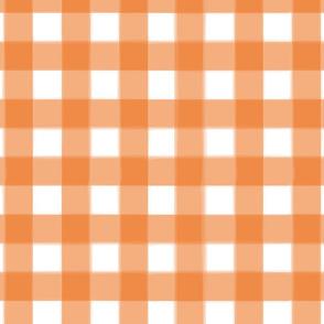 brushed wide gingham carrot orange