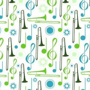Notes and Clefs with Trombones