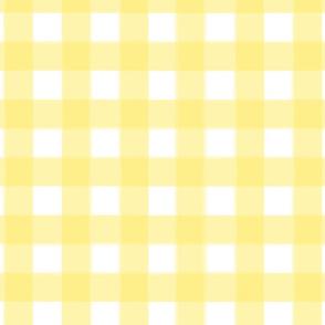 brushed wide gingham yolk yellow