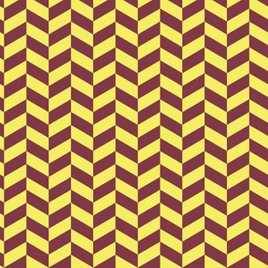16-15L Herringbone Lemon Maroon_Miss Chiff Designs