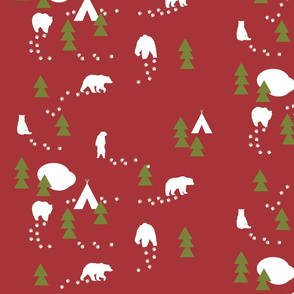 Bear Trail //winter edition - scarlet
