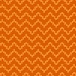 Stepladder Zig Zag in Burnt Orange