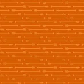 Straight as an Arrow in Burnt Orange