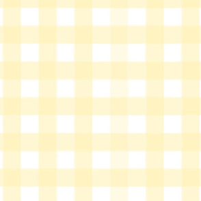 brushed wide gingham daffodil yellow