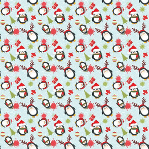 Holiday Penguins Christmas - Smaller pattern