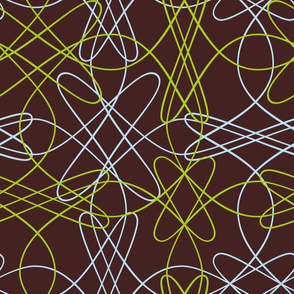 Lines and Loops - Brown Green Blue