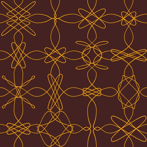 Loopy Lace - Brown Orange
