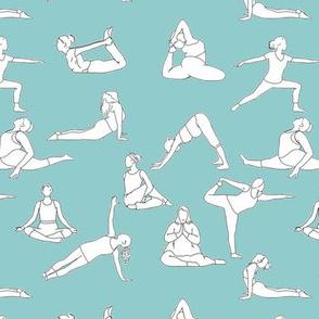 Yoga on Light Blue