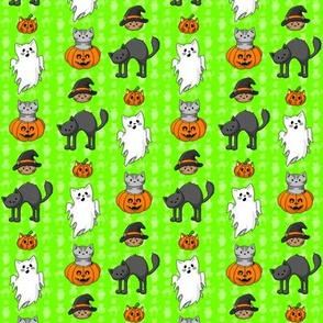 Halloween Pattern Green