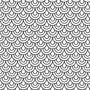 doodle scallops » black + white no.2