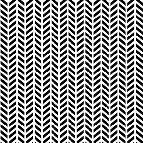 tiny herringbone » black + white no.2