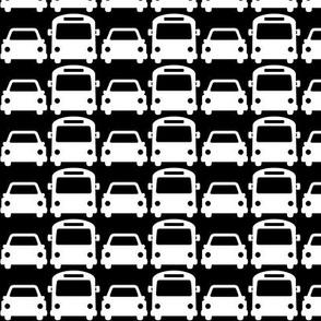 cars & buses reversed » black + white no.2