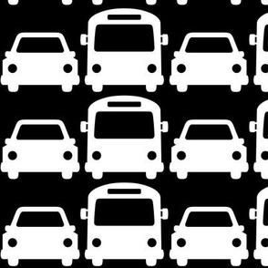 cars & buses LG reversed » black + white no.2