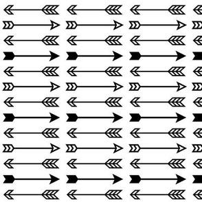 arrow mix » black + white no.3