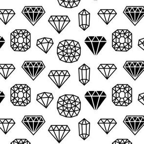 diamond mix » black + white no.3