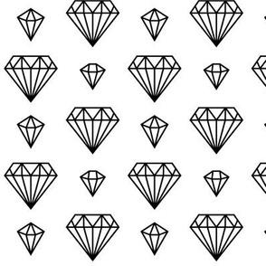 diamonds forever 2 » black + white no.3