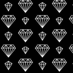 diamonds forever 2 reversed » black + white no.3
