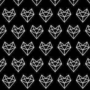 facet fox head reversed » black + white no.3