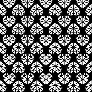 facet hearts reversed » black + white no.3
