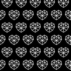 facet hearts 2 reversed » black + white no.3