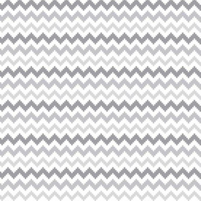 knitted grey no.2 chevron
