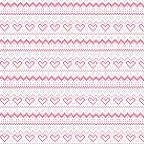 knitted pink no.1 fair isle