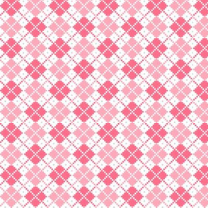 knitted pink no.4 argyle