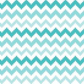 knitted teal no.2 LG chevron