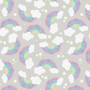 Chalkboard Rainbows - Large, Dark