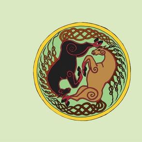 Celtic Horse Yin Yang Fat Quarter