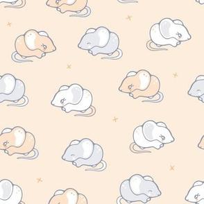 Mice in a row