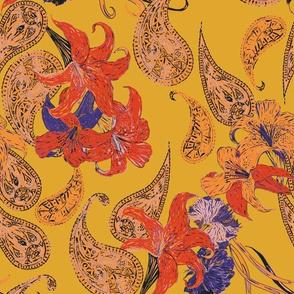 Paisleys and Lilies
