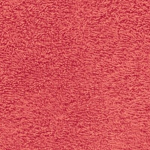 faux terry cloth towel in red