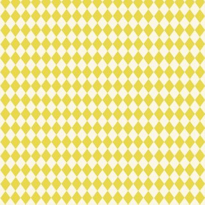 Diamonds in chartreuse yellow and off white